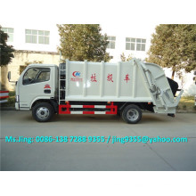 DFAC S3300 small garbage truck capacity 4-5 ton compression garbage truck on sale in South America