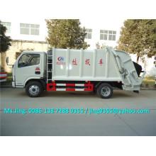 DFAC S3300 caminhão de lixo pequeno capacidade 4-5 ton caminhão de lixo de compressão à venda na América do Sul