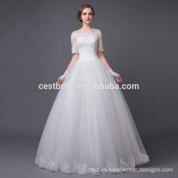 vestido de boda moldeado atractivo para el vestido blanco de la novia de la novia blanca para la boda