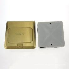 Yumo Hgd-2f-EU Brass Cover Ground Socket Electrical Pop up Floor Socket