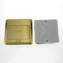 Yumo Hgd-2f-EU Cubierta de latón Toma de tierra eléctrica Pop up Toma de corriente