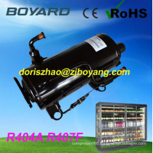 refrigeration spare R22 R404A horizontal rotary compressor refrigeration replace sc15cl for commercial salad refrigerator