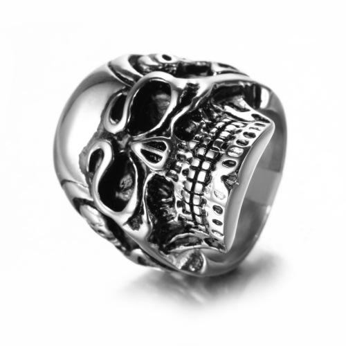 IP gold plating skull ring
