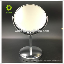 2017 bureau miroir de maquillage 1 / 3X salle de bain miroir grossissant miroir grossissant personnalisé