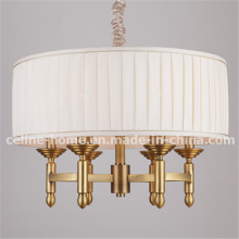 Iron Light Pendant Lamp with Fabric Shade. (SL2061-6)