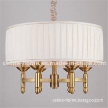 Iron Light Pendant Lamp with Fabric Shade. (SL2061-6)