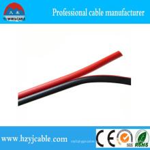 Черный и красный ПВХ изоляция Параллельный кабель акустической системы CCA 2 * 0,5 мм2