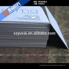 Hot Stamping Buchdruck Papier Luxus Visitenkarte Drucker