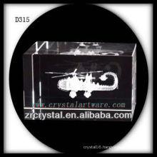 K9 3D Laser Subsurface Plane Inside Crystal Block