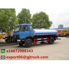 Precio inferior 10 cbm camión cisterna de agua con pulverizador para la venta