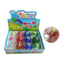 Balle rebondissante en plastique de jouet de 6.5cm avec la lumière (10187949)