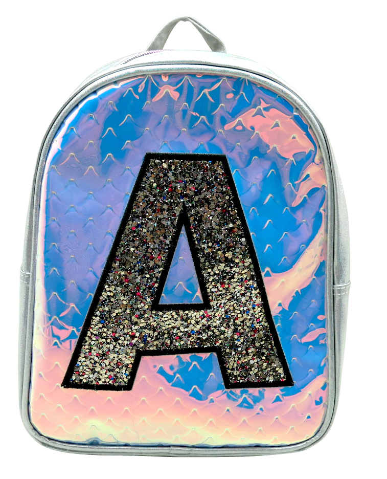 Glitter A Pattern Laser Backpack 1