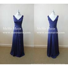 2016 Новый бархат мать невесты платья синий вечернее платье с открытой спиной