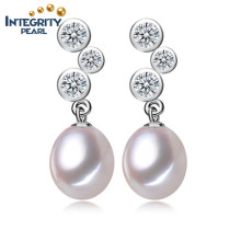 Tear Drop Pearl Earrings 8-9mm AAA Wholesale Freshwater Pearl Earrings Women