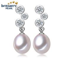 Tear Drop Pearl Earrings 8-9mm AAA Wholesale Freshwater Pearl Earrings Women