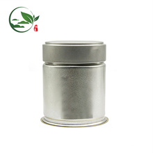 Logotipo de impresión Matcha Pop-top Stash Jar, hojalata Matcha Jar con tapa de tornillo