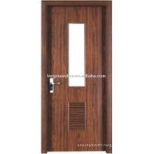 WPC PVC toilet door design with bottom shutter desgin