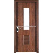 Design de porta de banheiro em PVC WPC com design de obturação inferior