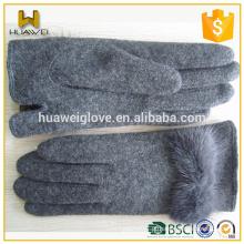 Anti-temporada venda luva! Cheap inverno quente moda senhoras lã luvas