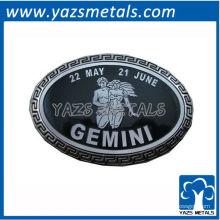 personalize fivelas de cinto de constelações, fivela de cinto gemine personalizada de astrologia