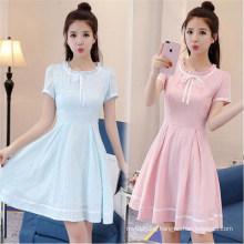 Summer Student Solid Color Dress Female Sweet Fashion Princess Dress
