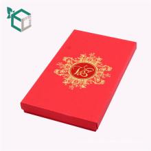 Top Cardboard Folding Box red color book shaped Wine Packaging for Bottle