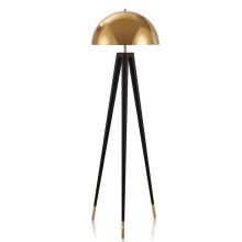 Wholesale Modern Creative E27 Metal  Gold  LED Tripod Floor Lamp For Livingroom
