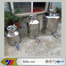 Bidon de lait en acier inoxydable 100 litres de vernis à lait avec robinet