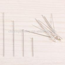 Sef026 100pc / lot 4/5/3 / 2CM Sterlingsilber T-pin flache Kopfhaut Akupunktur Pilznadel Umbrella Nadeln Armband diy Zubehör