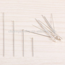 sef026 100pc/lot 4/5/3/2CM Sterling Silver T-pin flat scalp acupuncture Mushroom needle Umbrella needles bracelet diy accessorie