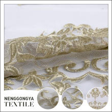 Chine Pas cher tissu de broderie de dentelle décorative en polyester