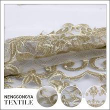 China barato poliéster decorativo laço bordado tecido