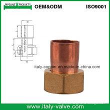 Acoplador de cobre de calidad personalizada con tapón de latón (AV8008)