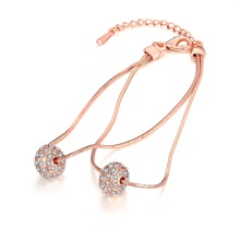 Zircon Ball Shape Bracelet Rose Gold Bracelet for Young Girls