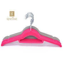 wholesale colorful slim velvet flocked  hanger clothes coat velvet hangers 50
