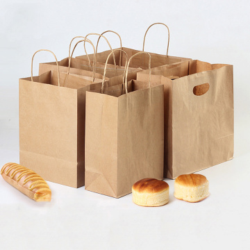 Bakar dan Buah Kraft Paper Bag Supermarket Packaging