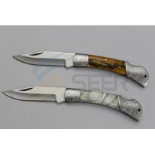 """7 """"cuchillo de bolsillo de la manija de la resina (SE-126)"""