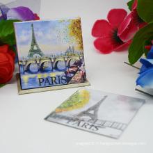 Autocollant d'aimant de promotion, papier Paris Aimant de réfrigérateur