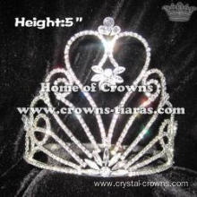 5in Height Pageant Crowns In Clear Rhinestones