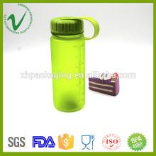 Boca ancha PCTG relleno vacío redondo 400ml agua botella plástica con tapa roscada