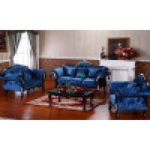 Деревянные ткань диван для гостиной набор мебели (D987B)