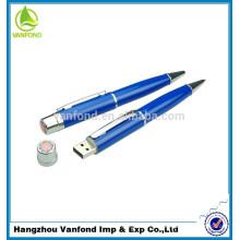 Haute qualité métallique Promotion stylo publicitaire en vrac USB Flash Pen Drive 8GB