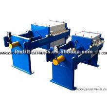 Presse-filtre manuelle manuelle hydraulique de petite capacité de chambre conçue par la presse de filtre de Leo