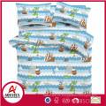 Ropa de cama para niños al por mayor, funda de edredón de algodón estampado para niños conjunto personalizado