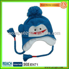 Knitted animal hats for kids with braid BN-2647