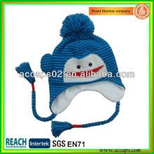 Chapéus de animais de malha para crianças com trança BN-2647