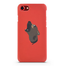 Creative Red Phone Case For iPhone8 cover case With Cute Dogs