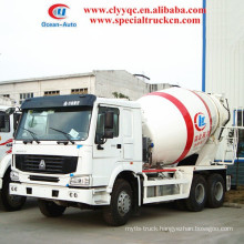 SINOTRUK HOWO capcity 14-16 m3 transit mixer truck 6x4 concrete mixer truck for sales