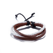 Hot Sale Fashion Vintage Cowmade Bracelet Black and Brown Handmade Wholesale