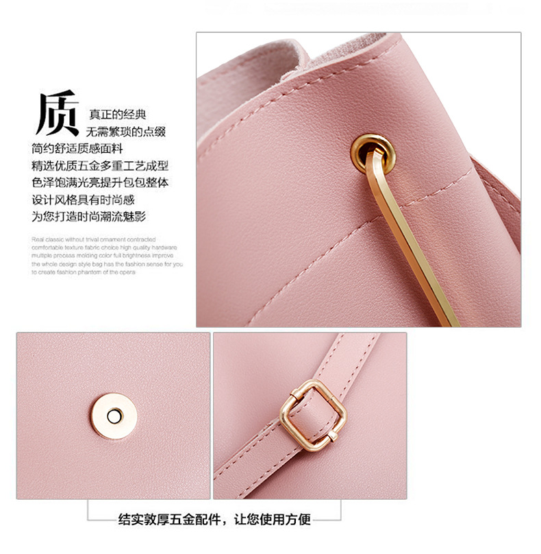 fashion pu shoulder lady handbag